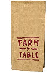 The Country House Collection Farm to Table 19 x 28 All Cotton Embroidered Waffle Kitchen Towel