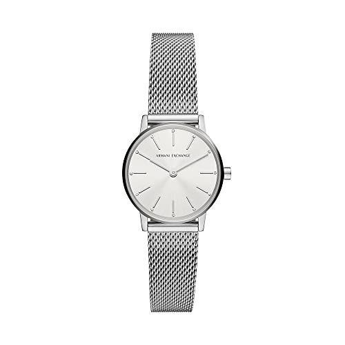 Armani Exchange Womens Analog Quartz Uhr mit Stainless Steel Armband AX5565
