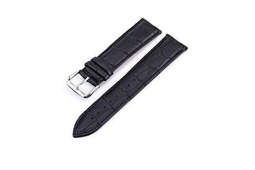 TheBrandassador Uhrenarmband leder 18mm, 19mm, 20mm, 22mm schwarz, braun oder cognac mit Alligator Muster und Edelstahl Dornschließe Herren/Damen/Unisex
