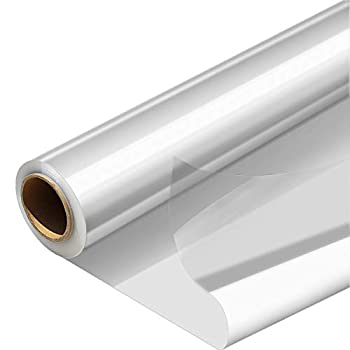 Cellophane Wrap Roll Width16 in x 100 Ft Plastic Gift Basket Wrap,Clear Wrapping Paper