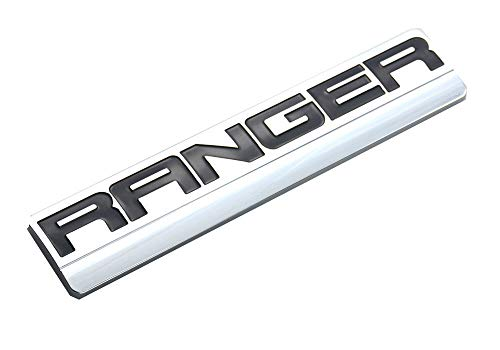 1pcs RANGER Emblems, 3D Badge Fender Decal Sticker Compatible for RANGER F150 F250 2006-2011 (Chrome/Black)