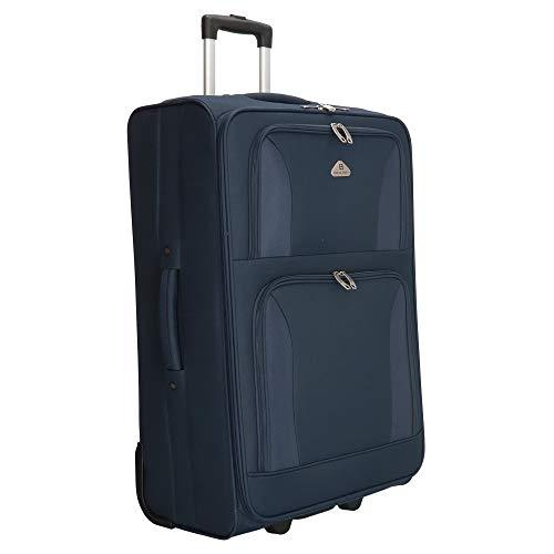 ENRICO BENETTI Trolley - Reisekoffer, 71 cm - Volumen: 100 Liter, Superleicht nur 3,2 kg (Blau)