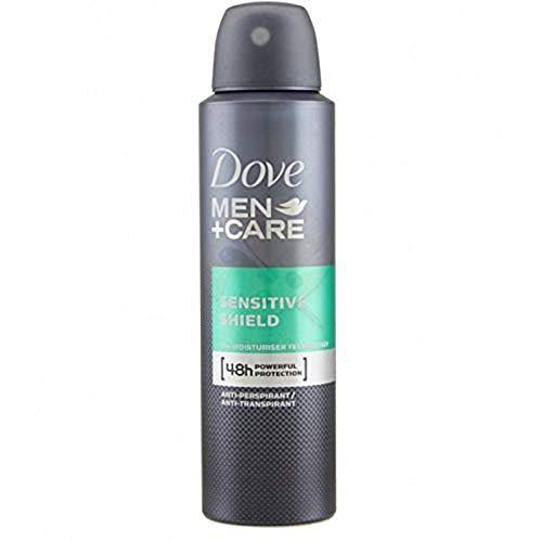 Dove Men + Care Deospray Sensitive Shield Anti-Transpirant, Déodorant Homme, Protection 48h, Formule sans Alcool pour les Peaux Sensibles, 150ml - Lot de 6