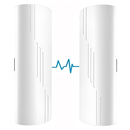 Wireless Bridge,5.8G Outdoor Point to Point Access PTP/PTMP Plug & Play CPE Network 300Mbps 1.86ML Long Range WiFi Extender with 14DBI High Gain Antenna,POE Power Adapter