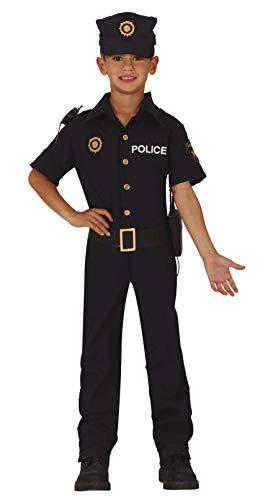 FIESTAS GUIRCA Disfraz policia de Barrio Manga Corta Infantil Talla 3-4 aos
