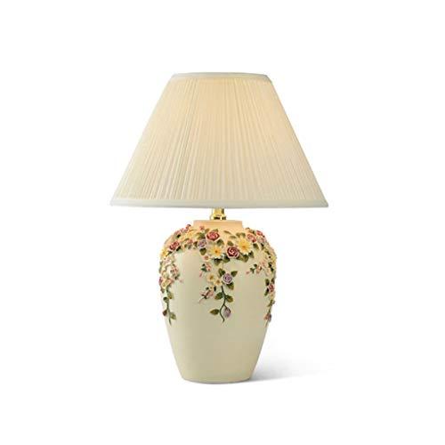 CHNOI Lámpara de Mesa Led de Boda Europea, Flores Creativas románticas, atenuador, luz de Escritorio, vestíbulo, Dormitorio, lámpara de Lectura Pastoral de Moda