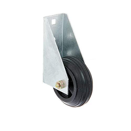 WITTKOWARE Gummi-Torlaufrolle für schwere Tore, Ø 80mm, Stahl, feuerverzinkt
