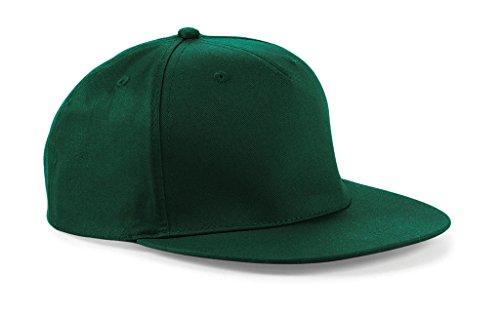 Snapback Hip Hop Rapper Cap one size,Bottle Green