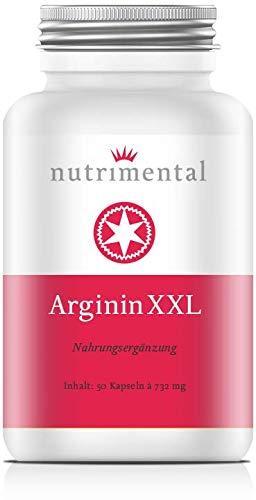 ArgininXXL - 600 mg der reinen Aminosäure L-Arginin pro Kapsel - 50 vegetarische Kapseln