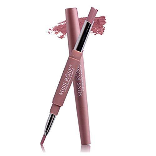 XShuai Miss Rose Doppelend-Multifunktions-Lippenkonturenstift Lippenstift Lipgloss Dauerhaft...