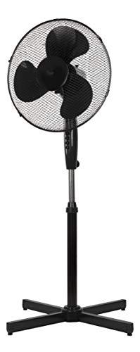 NHC Standventilator 40 cm BZW. 41 cm Rotor - Ventilator höhenverstellbar bis 122cm - sehr leise - hoher Luftdurchsatz - 3 Verschiedene Geschwindigkeitsstufen - Oszillationsfunktion ca. 90° - schwarz