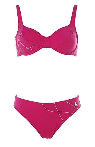 Felina Damen Bügel Bikini Stickerei Magenta 38 Cup C