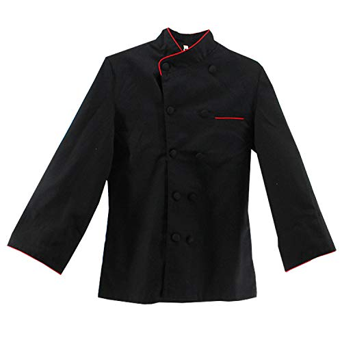 MISEMIYA - Chaquetas Chef COCINERA Mangas LARGAS - Ref.844 - XXX-Large, Negro