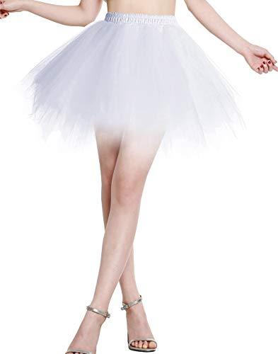Berylove Mujer Falda de Tul Tutú Ballet Enaguas Plisada Cortas para Fiestas