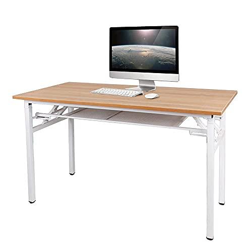 KDMB Muebles Mesa Plegable portátil, Estructura de Acero Resistente, 120x60cm Escritorio de...