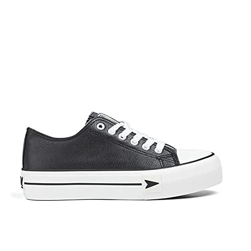 D.Franklin Sneakers Bay Plataforma, Zapatillas Mujer, Negro, 40 EU