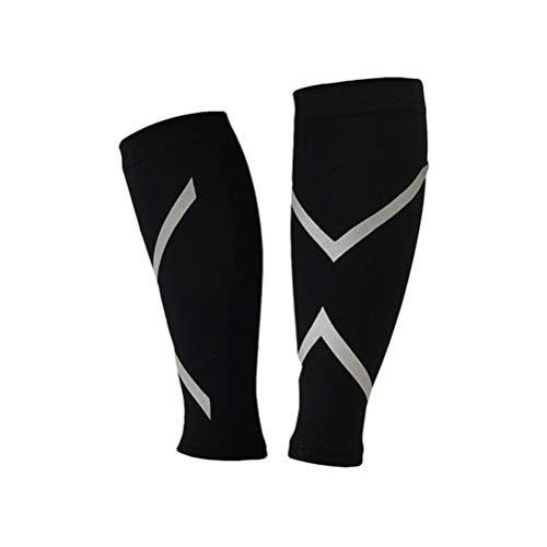 VOSAREA Sports Calf Compression Sleeve - Shin Splint Leg Calcetines de compresión para Hombre, Mujer, Talla L