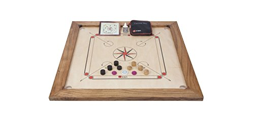 Uber Games Tournament Carrom Board with Stand