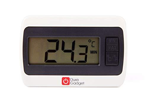Einzelpack Digitales Thermometer mit Temperaturanzeige in Celsius und Fahrenheit Messbereich 0°C bis 50°C Reset Knopf Luftfeuchtigkeitsanzeige benötigt 1 x AAA Batterie (inklusive) Aufstellfunktion