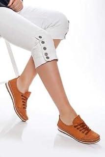 TARÇIN Hakiki Deri Günlük Kadın Babet Ayakkabı TRC78-0061