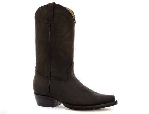 Grinders Louisiana Dark Brown Mens Cowboy Boots Size UK 10