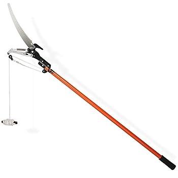 Permet de couper ou scier les branches lointaines 2 en 1 - Scie et sécateur Manche (télescopique) en revêtement anti-adhésif Coupe des branches jusqu'à un 20mm de diamètre Lame: 350 mm de long