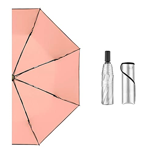 Paraguas plegable de viaje a prueba de viento paraguas abierto automático con 8 varillas plegable paraguas de lluvia reutilizable/B BJY969 (color : D)