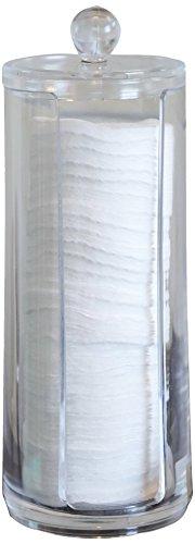 Fantasia Distributeur de disques de coton en acrylique avec couvercle Transparent Hauteur 20,5 cm