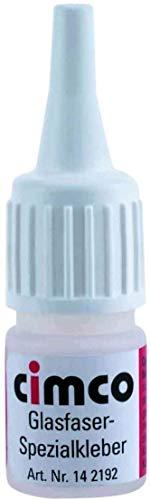 Cimco 14 2192 Glasfaser Fixkleber - Sekundenkleber - 3 Gramm Flasche