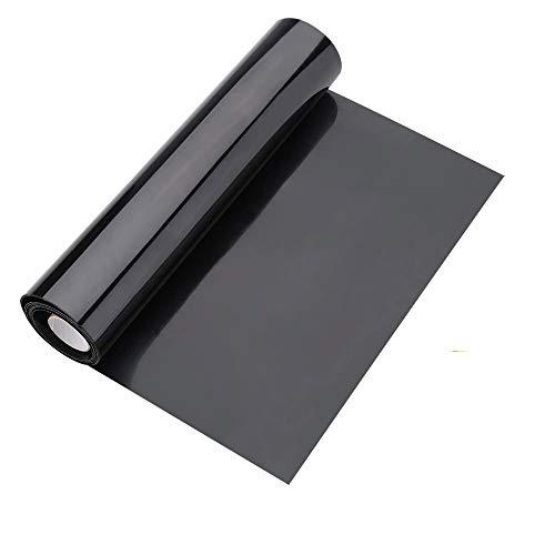 CODIRATO Vinyl Wärmeübertragung Aufbügelbare Plotterfolie Rollen Transferfolie zum aufbügeln Vinyl Selbstklebende Flexfolie Textilfolien Schwarze Bügelfolie für DIY T-Shirt, Kleidung, Hüte