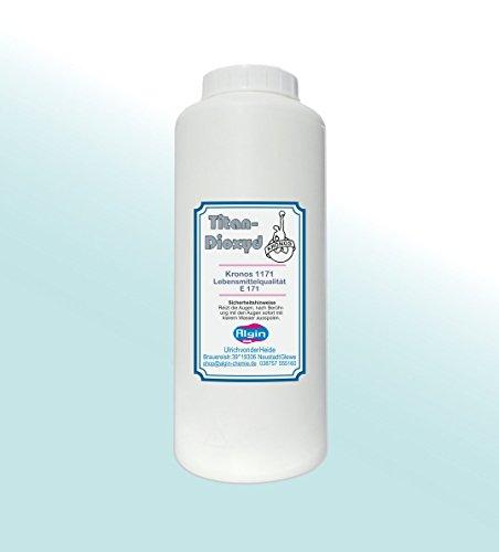 Algin Titandioxid E171 – 1 Liter – Micropulver Lebensmittelqualität