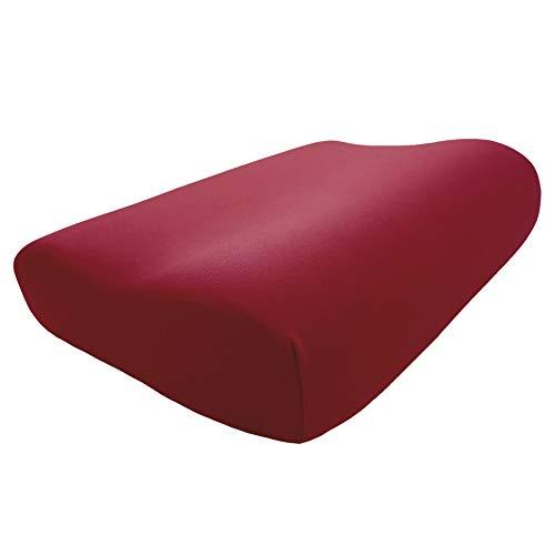 Edda Lux Housse pour oreiller Tempur Original Queen S/M/L/XL - 61 x 31 cm - Jersey de qualité supérieure pour coussin cervical - 100 % coton - Couleur : carmin
