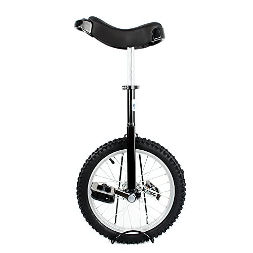 BQKOZFIN 子ども用 一輪車 16インチ 組み立て式 競技用 大人用 子供用 学生用 (黒と白の2色がランダムに発送されます)