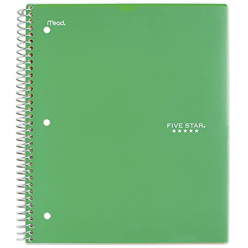 """Five Star Spiral Notebook, 1 Subject, College Ruled Paper, 100 Sheets, 11"""" x 8-1/2"""" Sheet Size, Customizable Cover, Color Selected For You, 1 Count (08230)"""