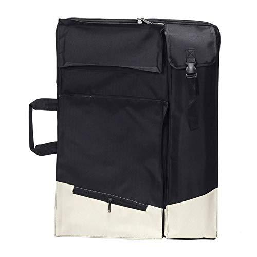 Staffelei Sitzstaffelei Schwarzweiss-nähender doppelter Bügel-Rucksack-Künstler Canvas Bag Portable Waterproof 66 * 50cm HUYP