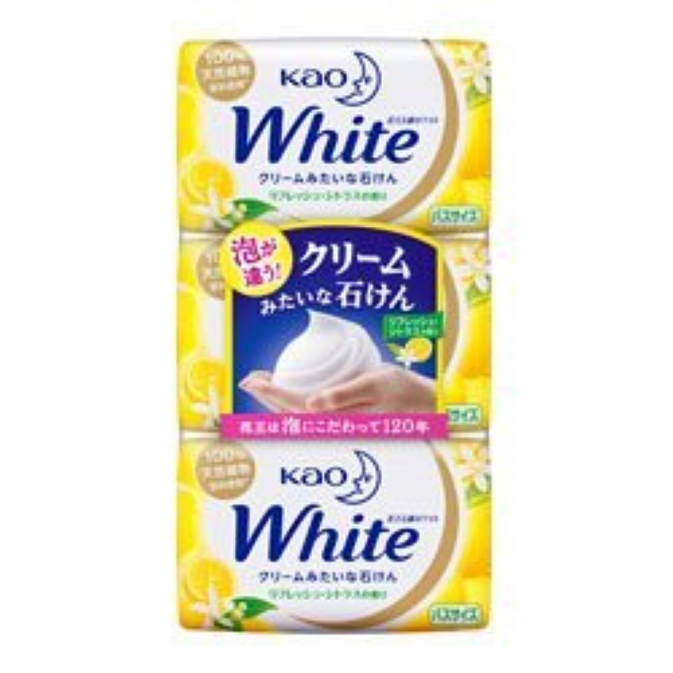 与えるミルク受信【花王】ホワイト リフレッシュ?シトラスの香り バスサイズ 130g×3個入 ×3個セット