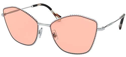 Miu Miu Occhiali da Sole SMU 60V Silver/Pink 60/18/140 donna