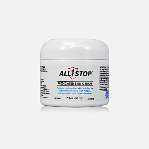 All Stop Antifungal Solution (2 Oz/59 ml)- Cream to Protects Skin Irritation by Ringworm, Athlete's Foot, Jock Itch, Skin Parasites & Other Skin irritants