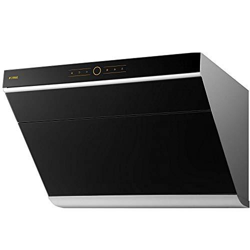 "FOTILE JQG7501.E 30"" Range Hood | Unique Side-Draft Design for Under Cabinet or Wall Mount | Modern Kitchen Vent Hood | Powerful Motor | LED Lights | Onxy Black Tempered Glass Surface"