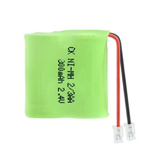 RitzyRose Batería Ni-MH AA de 2,4 V y 300 mAh, baterías recargables Pack conectores universales del grupo