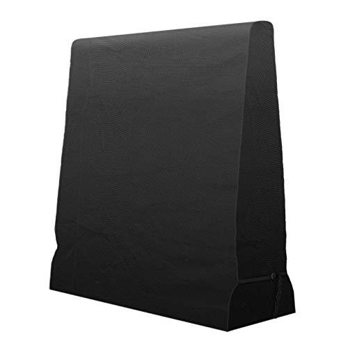femor Tischtennisplatte Abdeckung, Wasserdicht, Winddicht, UV-Beständiges Schutzhülle Tischtennisplatte, Schwerlast Reißfest 420D Oxford Gewebe Schutzhülle für Tischtennisplatte, 165×70×185cm Schwarz