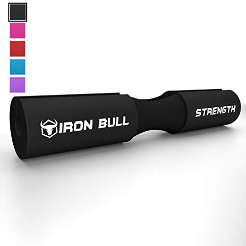 Iron Bull Strength Advanced Squat Pad - Barbell Support for Squats, Lunges & Hip Thrust, Black