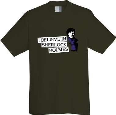 I Believe In Sherlock Holmes T-Shirt in Größe XXXL 3XL