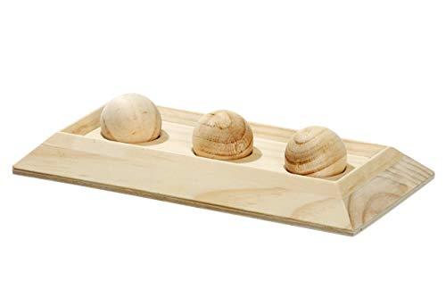 Karlie Rody Brain Train Board, 3 Kugeln L: 30 cm B: 15 cm H: 6 cm natur
