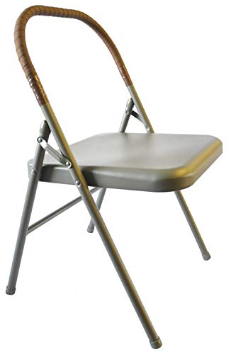Pune Yoga Chair - Tan Chair with Brown Wrap