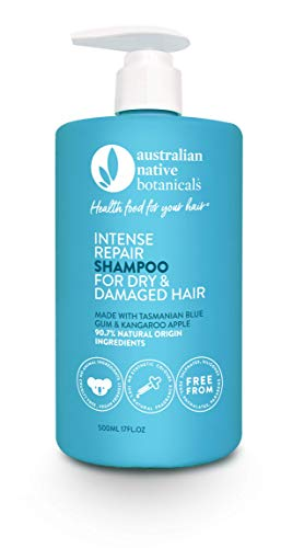 Australian Native Botanicals Natural Shampoo For Dry & Damaged Hair - Vegan Sulfate Free Shampoo For Men & Women - Natural Hair Care, 17 Fl Oz / 500ml