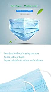 [Spot Goods] 100 PCS Disposable Filter Mask 3 Ply Earloop Medical Dental Surgical Hypoallergenic Breathability Comfort Breathable Beauty Medical Dust Mask