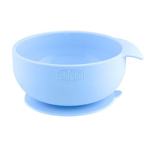 Chicco - Cuenco de silicona con ventosa azul (6 m+)
