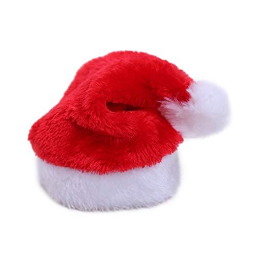 BESTOYARD Weihnachtsmütze für Hund Weihnachtsmütze Cute Dog Cat Pet Weihnachtskostüm Outfits Kleiner Hund Headwear Hair Grooming Zubehör (1Pcs)