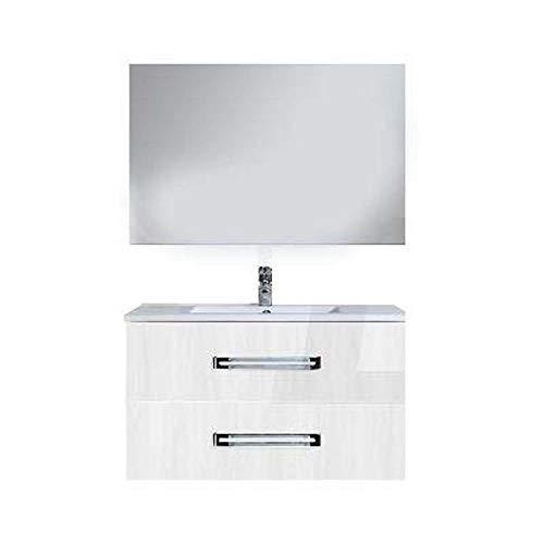 Base 66 x 44 x 50 mélèze blanc pour meuble de salle de bain série Sirio à composer